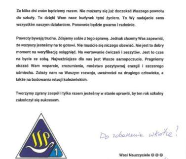 List_do_Uczniów!